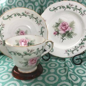 Vintage 1960s Duchess English Bone China Trio